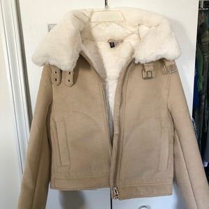 H&M Jacket with faux fur lining With Mastercard Online lk4Ww1d0